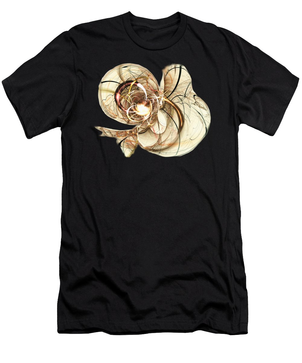 Malakhova Men's T-Shirt (Athletic Fit) featuring the mixed media Cloud Metamorphosis by Anastasiya Malakhova