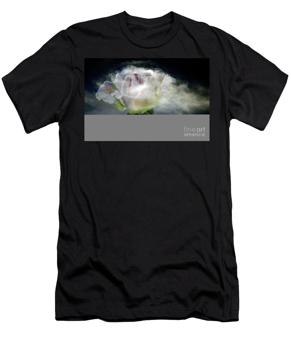 Clay Men's T-Shirt (Athletic Fit) featuring the photograph Cloud Rose by Clayton Bruster