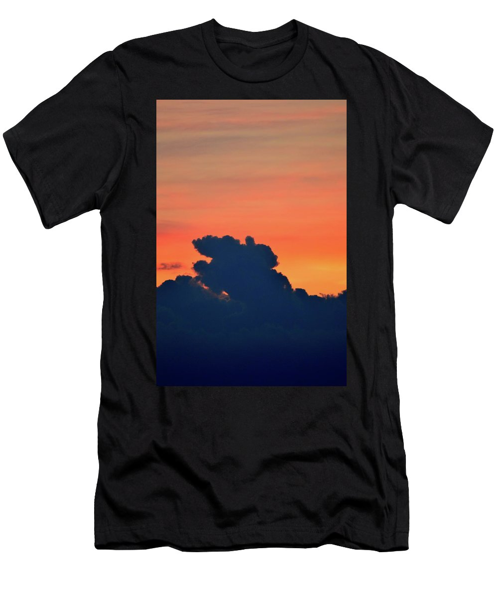 Abstract Men's T-Shirt (Athletic Fit) featuring the photograph Cloud Shapes by Lyle Crump