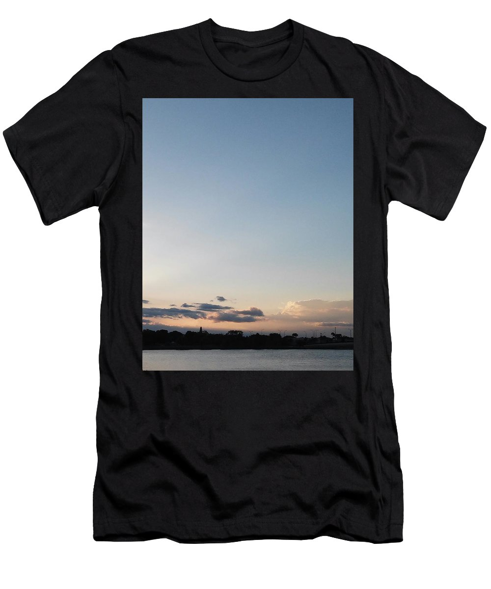 Clouds And Lake Men's T-Shirt (Athletic Fit) featuring the photograph Clouds And Lake by John Hiatt