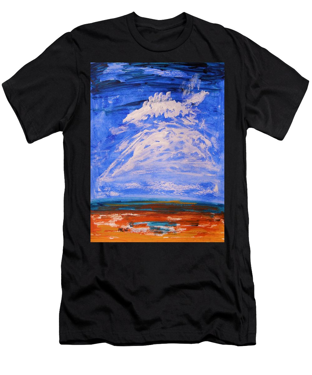 Clouds Men's T-Shirt (Athletic Fit) featuring the painting Clouds Dance by Mary Carol Williams