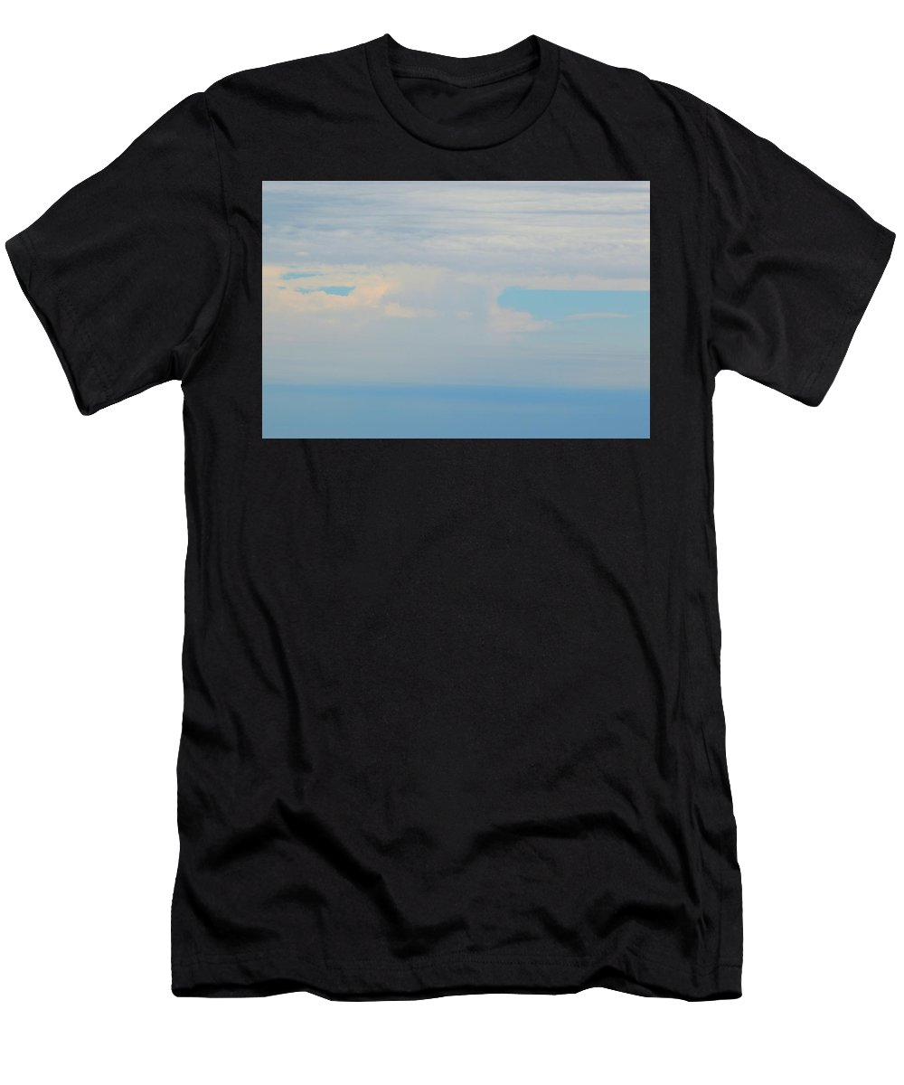 Abstract Men's T-Shirt (Athletic Fit) featuring the photograph Clouds In The Sky At 3.09 Pm by Lyle Crump