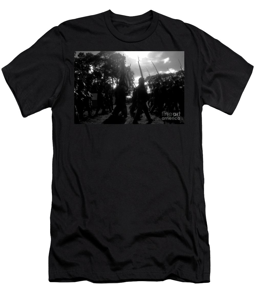 American Civil War Men's T-Shirt (Athletic Fit) featuring the photograph Clouds Of War by David Lee Thompson
