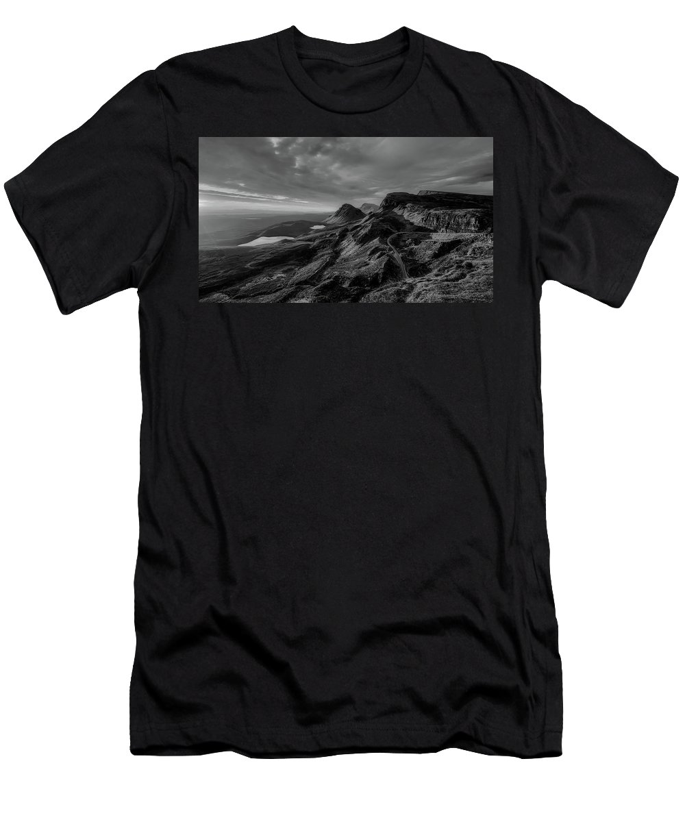 Isle Of Skye Men's T-Shirt (Athletic Fit) featuring the photograph Clouds Over The Isle Of Skye by Unsplash