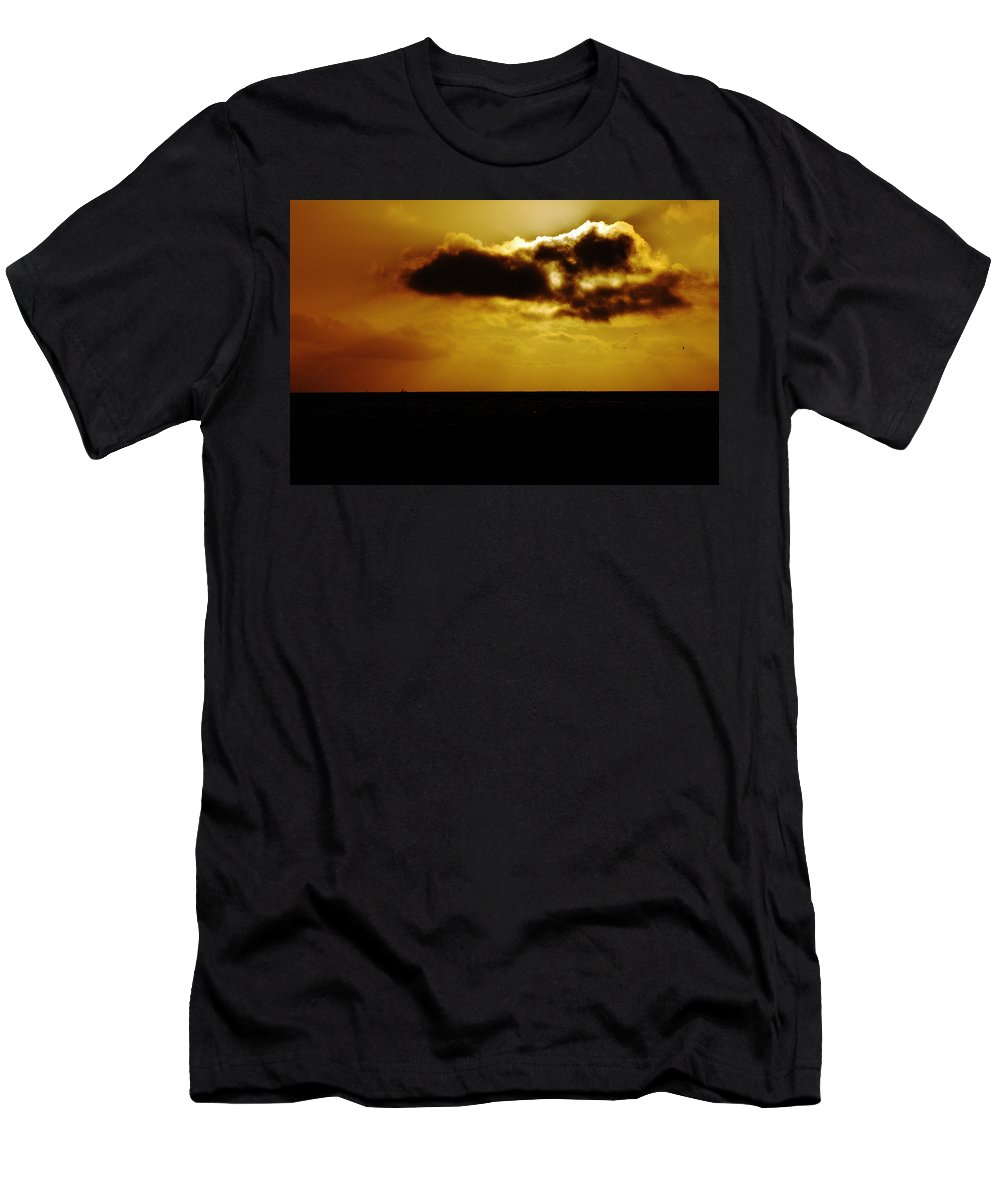 Clay Men's T-Shirt (Athletic Fit) featuring the photograph Clouds Over The Ocean by Clayton Bruster