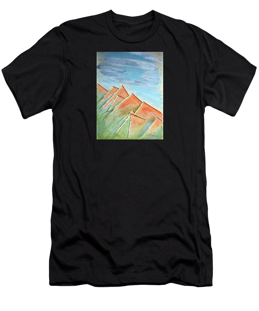 Painting Men's T-Shirt (Athletic Fit) featuring the painting Coastal Range by J R Seymour