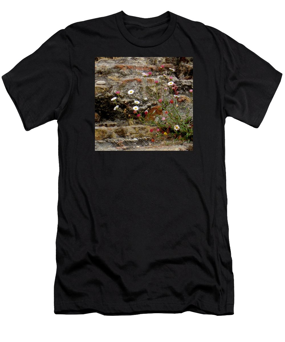 Coast Men's T-Shirt (Athletic Fit) featuring the photograph Coastal Wildflowers 1 by Marta Robin Gaughen