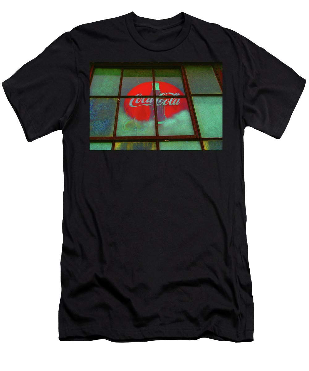Coke Sign Men's T-Shirt (Athletic Fit) featuring the photograph Coca Cola by Artie Rawls