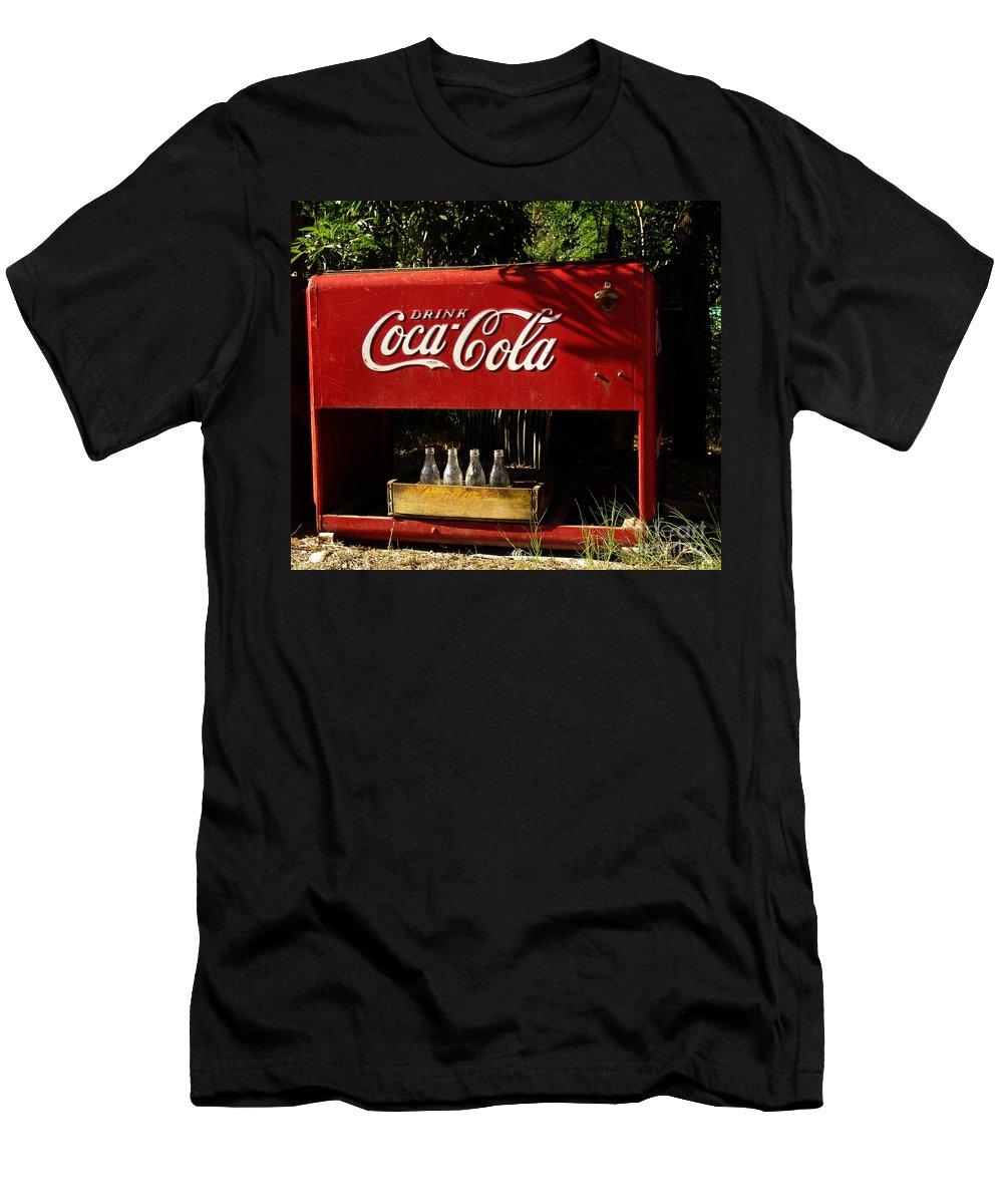 Coke Men's T-Shirt (Athletic Fit) featuring the photograph Coca-cola by Carol Milisen