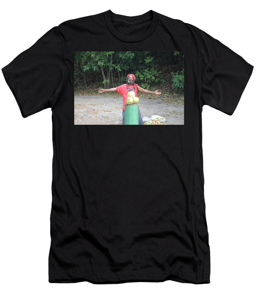 Men's T-Shirt (Athletic Fit) featuring the photograph Coconut Man by Lemuel
