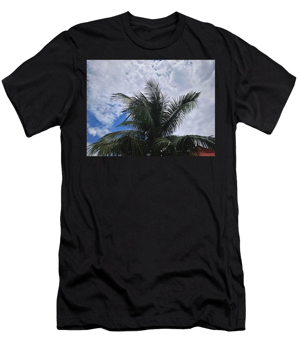 Coco Tree Men's T-Shirt (Athletic Fit) featuring the photograph Coconut Tree by Zhia Onid