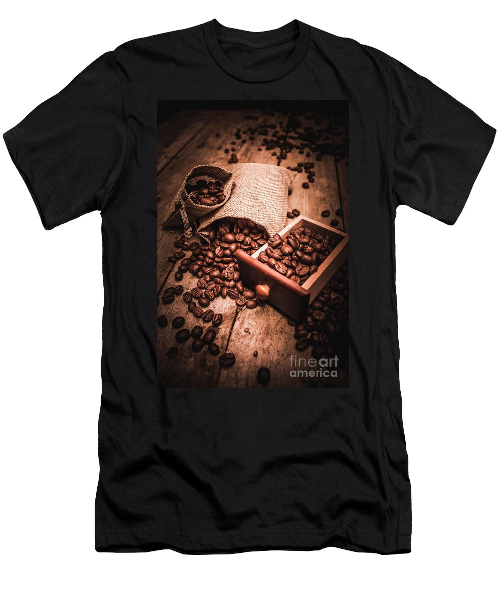 Art Men's T-Shirt (Athletic Fit) featuring the photograph Coffee Bean Art by Jorgo Photography - Wall Art Gallery