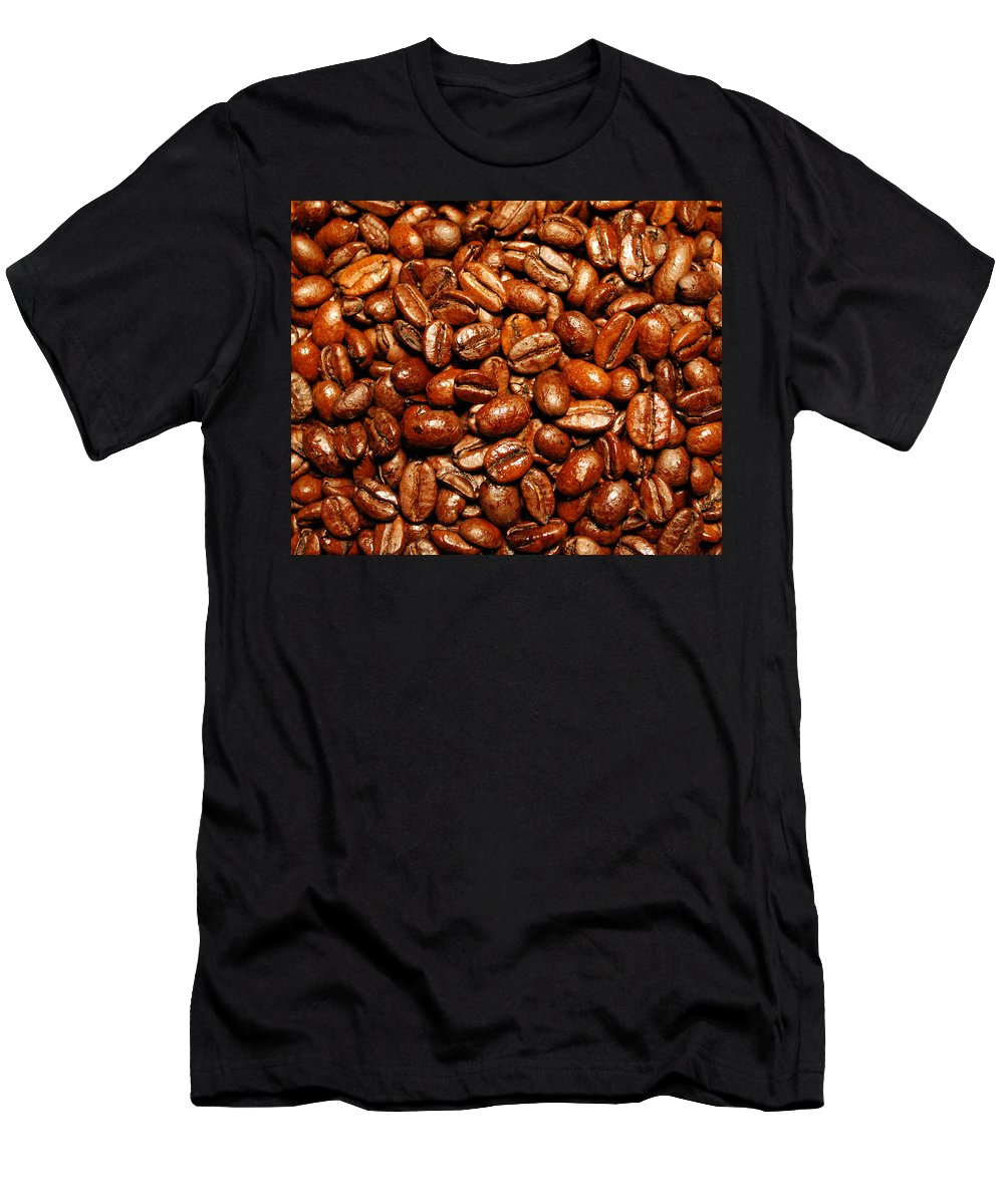 Coffee Men's T-Shirt (Athletic Fit) featuring the photograph Coffee Beans by Nancy Mueller