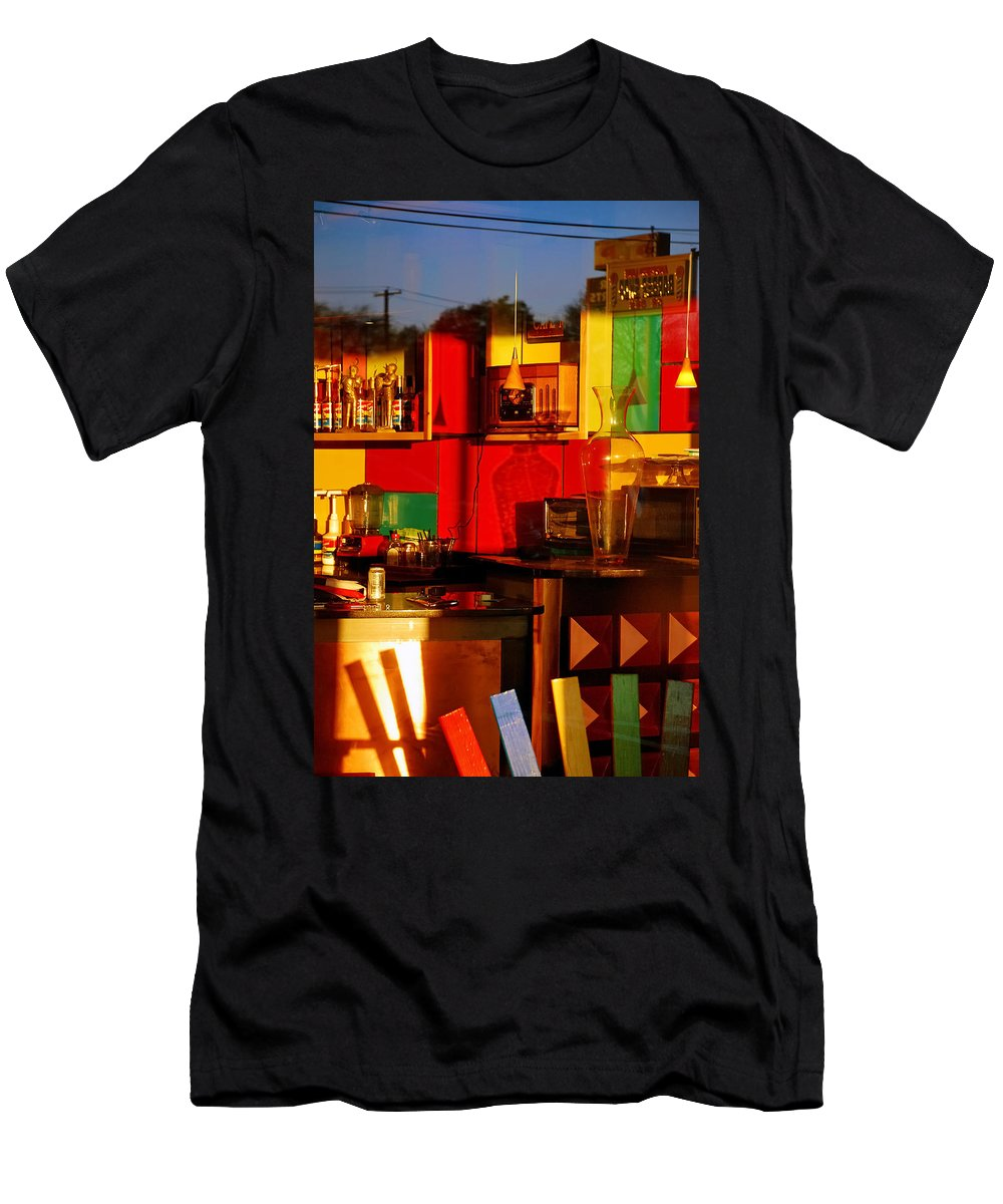 Skip Hunt Men's T-Shirt (Athletic Fit) featuring the photograph Coffee Shop by Skip Hunt