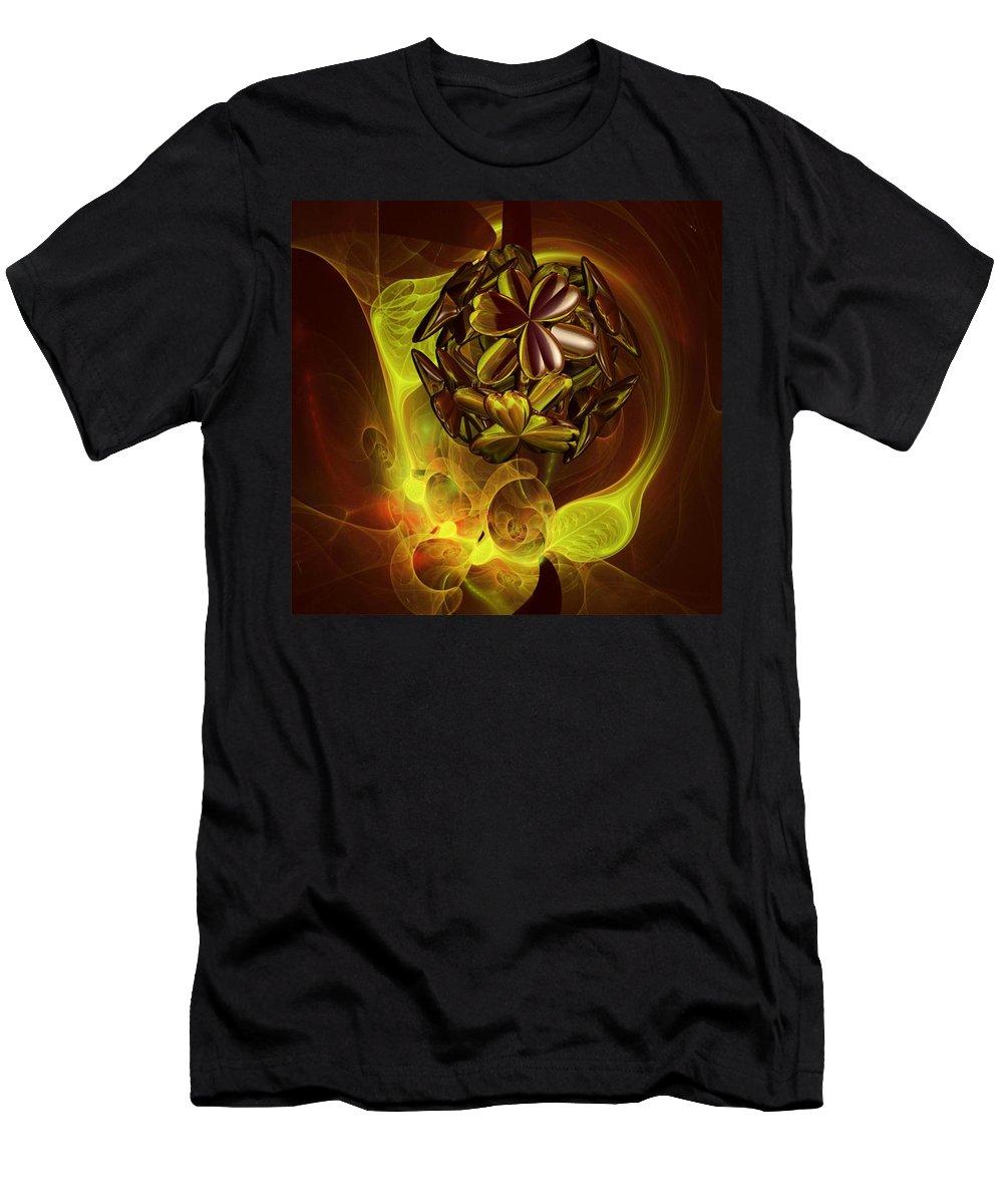 Coffee Flower Men's T-Shirt (Athletic Fit) featuring the digital art Coffee Siesta by Dana Furi