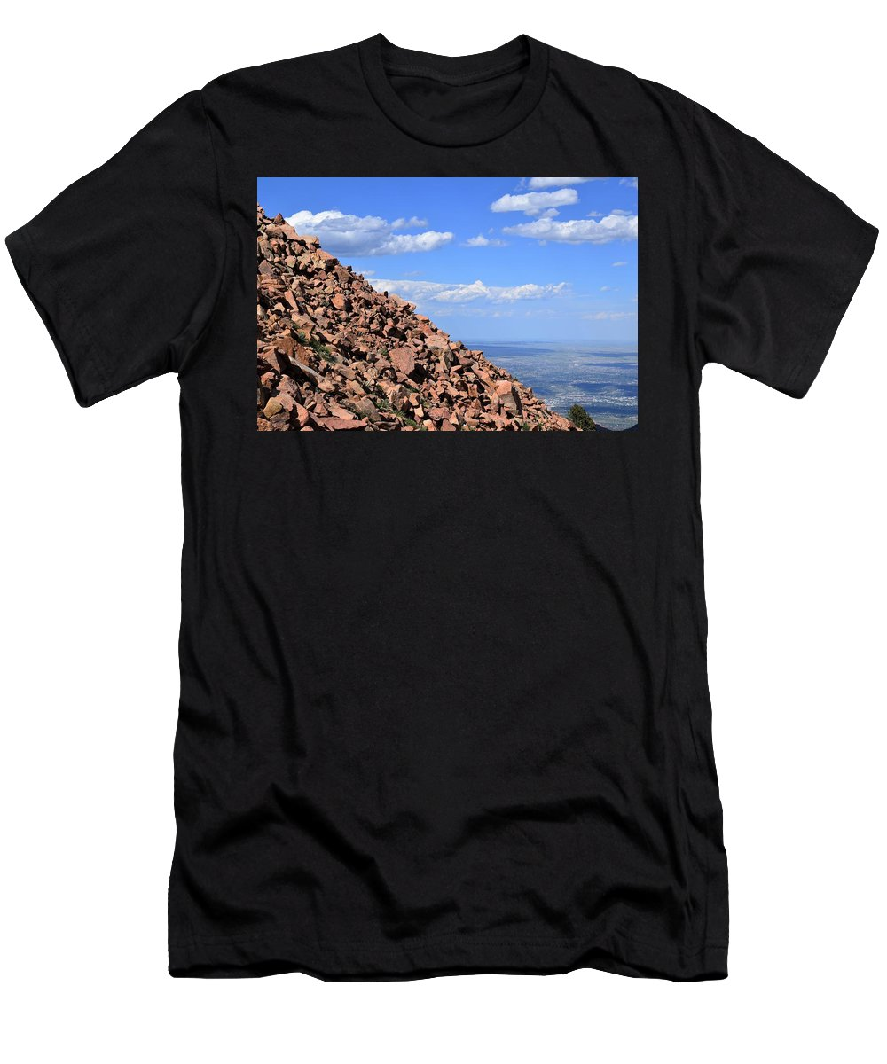 Colorado Springs Men's T-Shirt (Athletic Fit) featuring the photograph Cog View by Heather Fallot