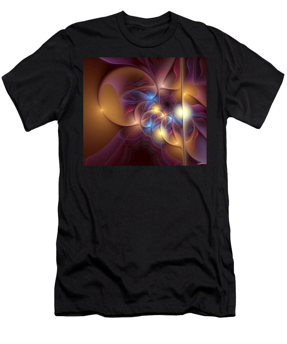 Abstract Men's T-Shirt (Athletic Fit) featuring the digital art Coherence Of Desire by Casey Kotas