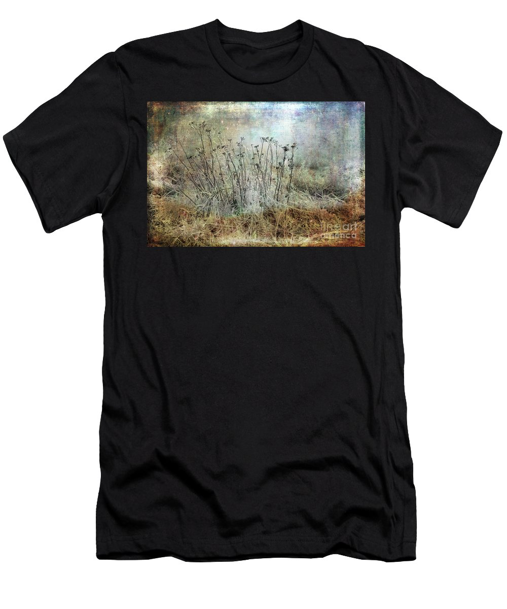 Cold Men's T-Shirt (Athletic Fit) featuring the photograph Cold Flowers by Randi Grace Nilsberg