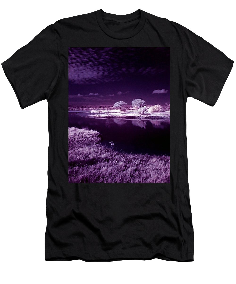 Infrared Men's T-Shirt (Athletic Fit) featuring the photograph Cold Landscape by Galeria Trompiz