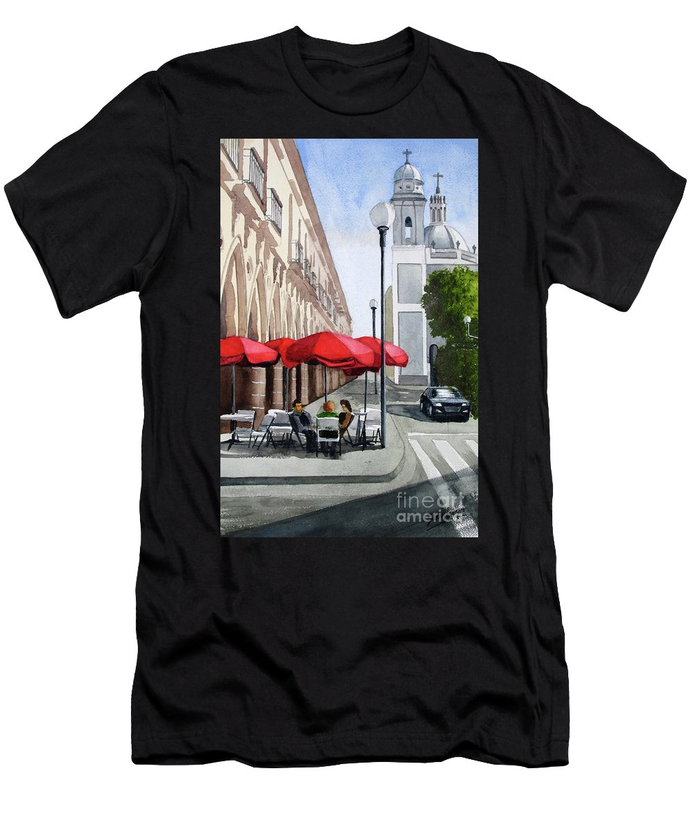Mexico Men's T-Shirt (Athletic Fit) featuring the painting Colima, Mexico by Barry Levy