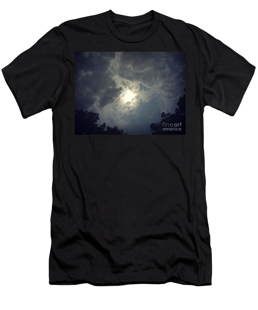 Body Of Water Men's T-Shirt (Athletic Fit) featuring the photograph Collapsing Star by Amanda Kessel