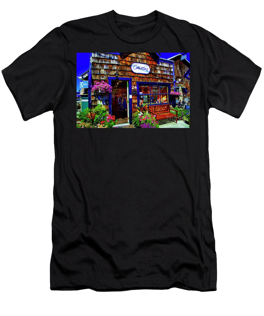Old Store Fronts Historic Areas Washington State Men's T-Shirt (Athletic Fit) featuring the photograph Collections by Rick Bragan