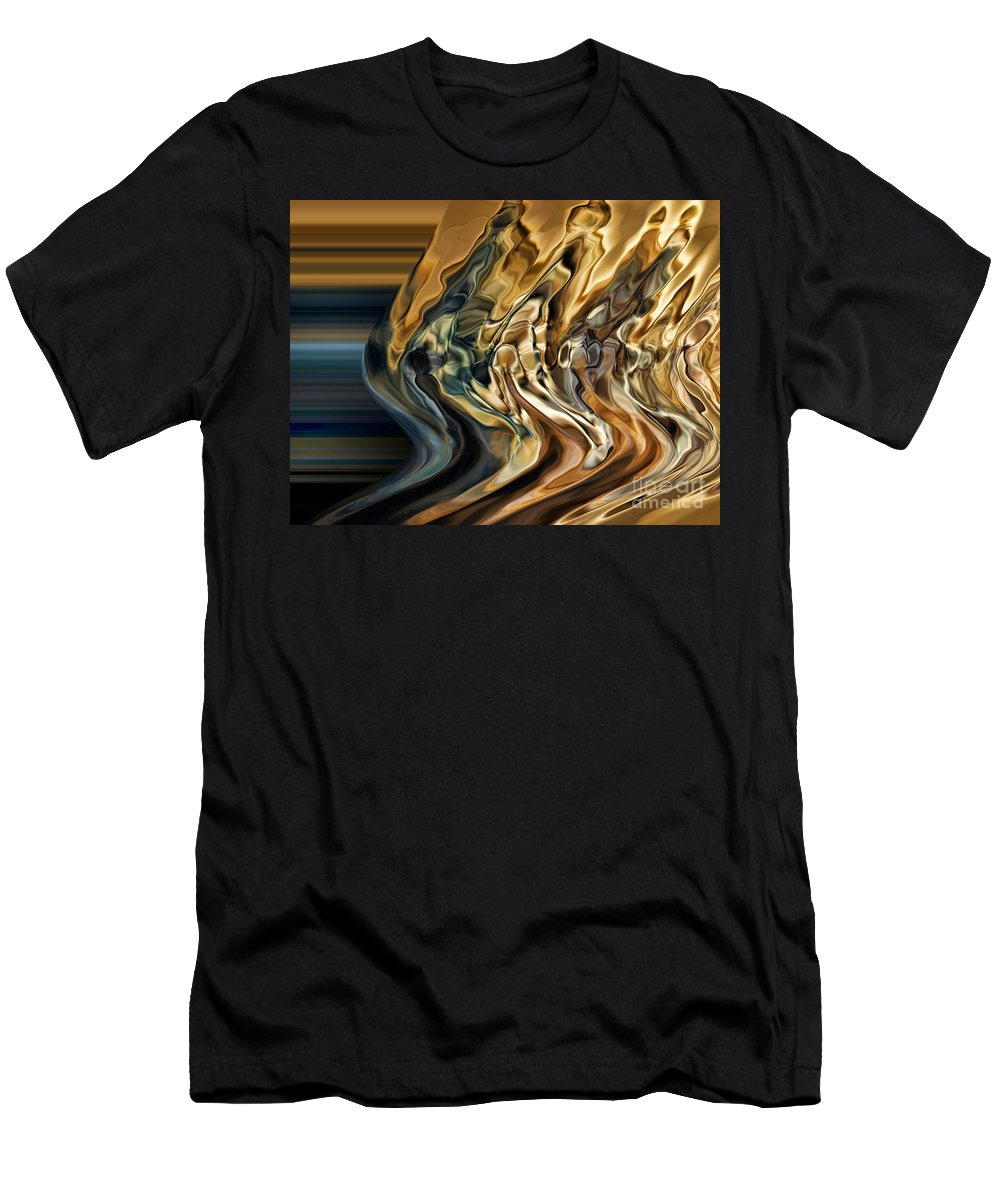 Motion Men's T-Shirt (Athletic Fit) featuring the digital art Collision Xiv by Jim Fitzpatrick
