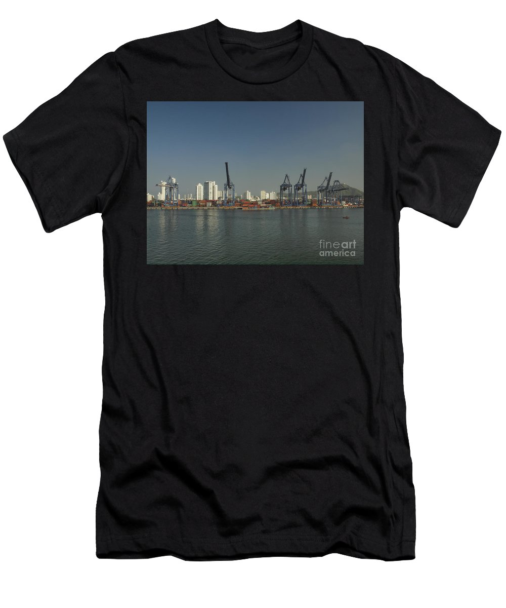 Cartagena Men's T-Shirt (Athletic Fit) featuring the photograph Colombia017 by Howard Stapleton