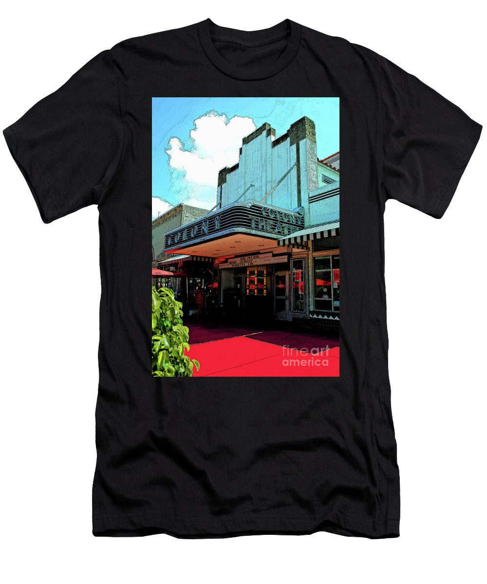 Hotel Men's T-Shirt (Athletic Fit) featuring the photograph Colony Theatre by Jost Houk