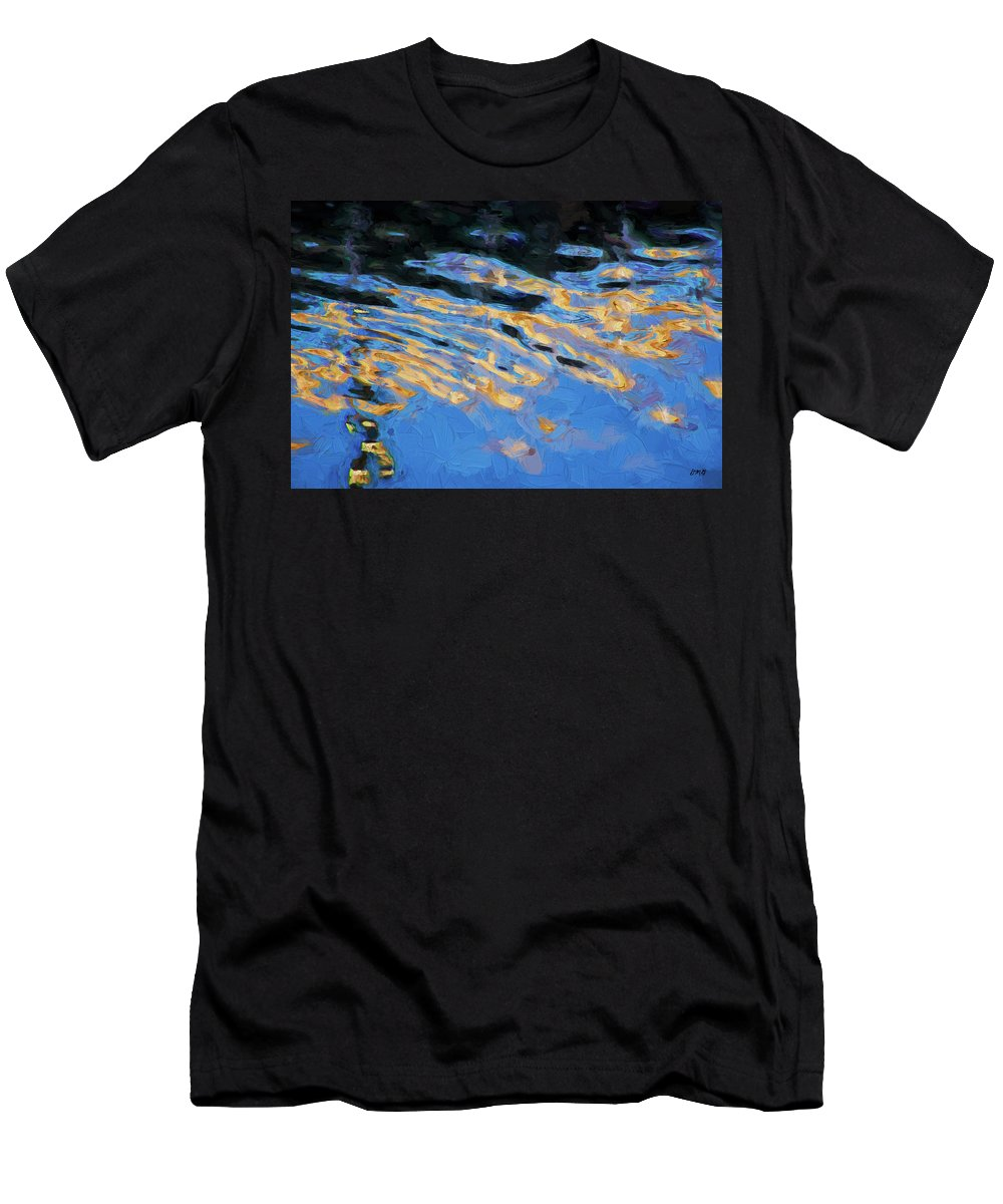 Abstract Men's T-Shirt (Athletic Fit) featuring the photograph Color Abstraction Lxiv by David Gordon
