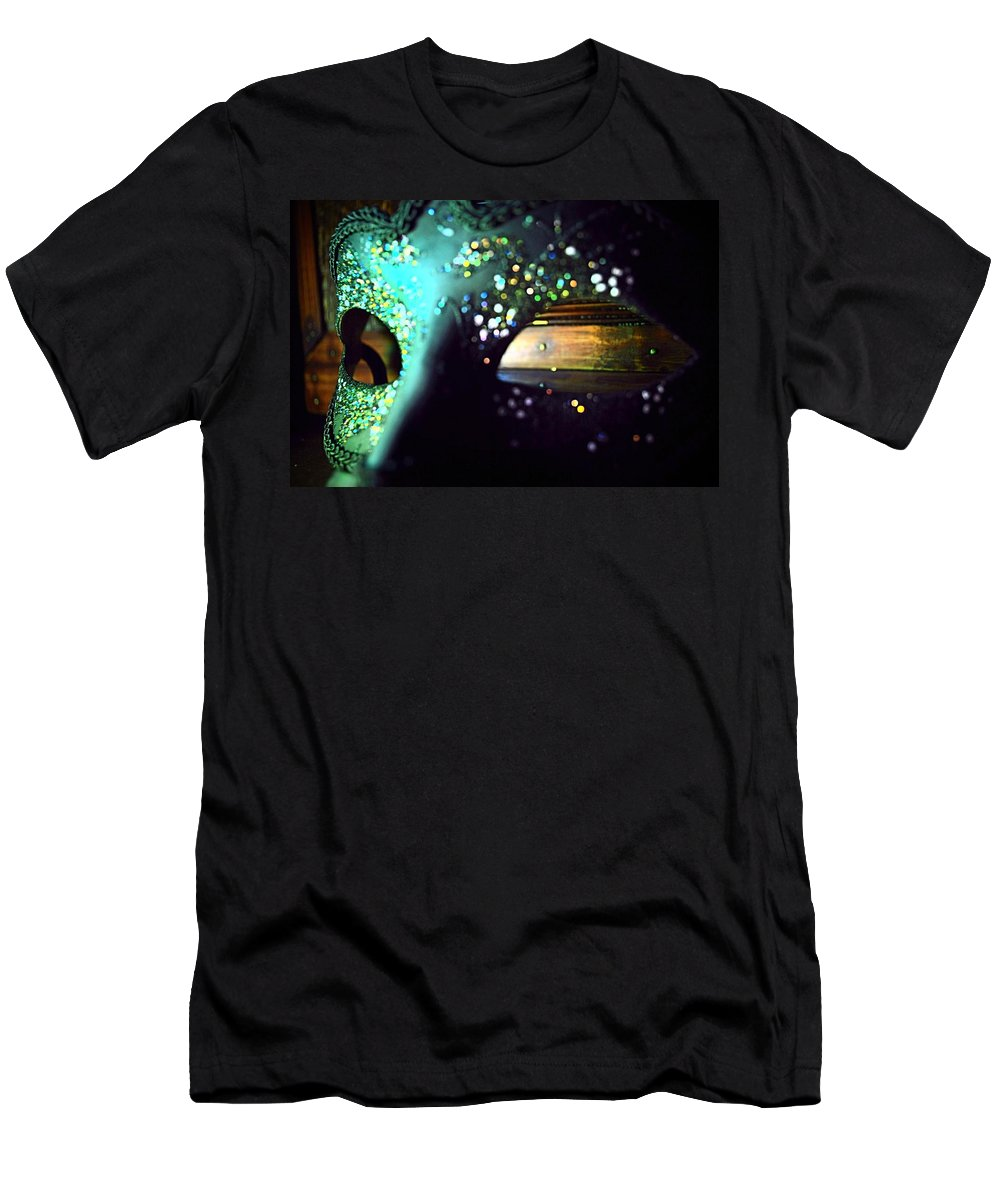 Masquerade Men's T-Shirt (Athletic Fit) featuring the photograph Color Masquerade by Stephanie Haertling