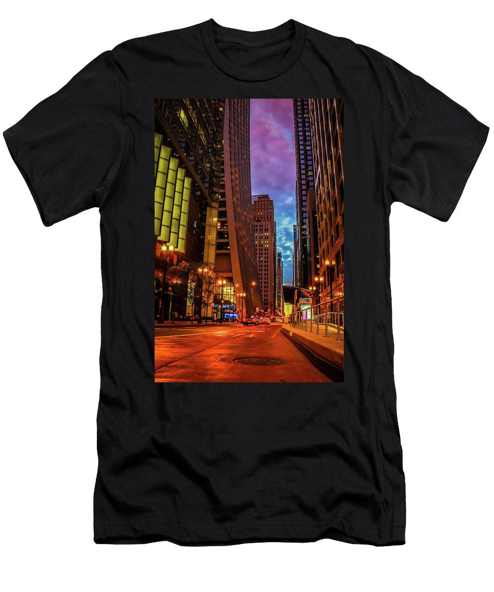 Chicago Men's T-Shirt (Athletic Fit) featuring the photograph Color Of Night by Tony HUTSON