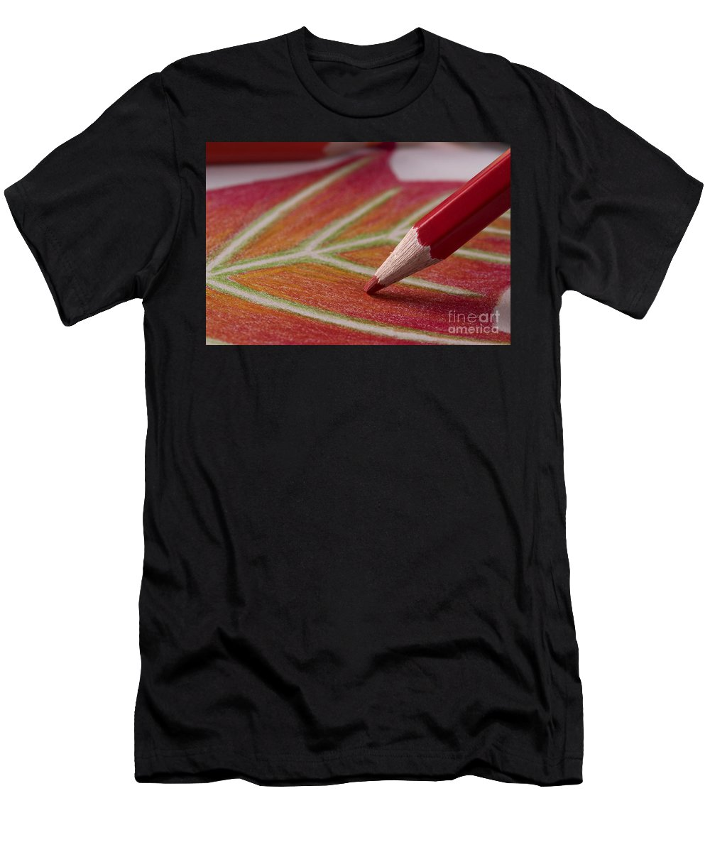 Color Men's T-Shirt (Athletic Fit) featuring the photograph Color Pencil Drawing by Michelle Himes