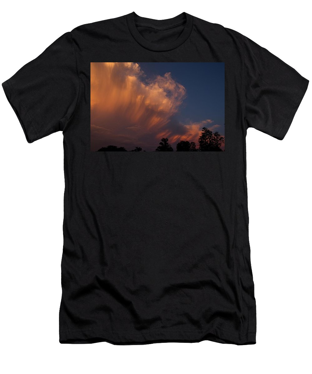 Clouds Men's T-Shirt (Athletic Fit) featuring the photograph Painting With Clouds, Part 4 by Shoeless Wonder