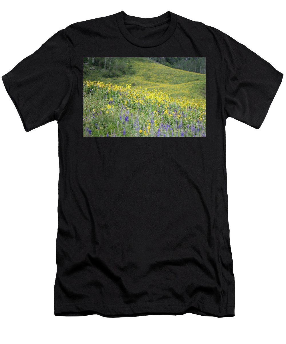 Crested Butte Men's T-Shirt (Athletic Fit) featuring the photograph Colorado Color #2 by Meagan Watson