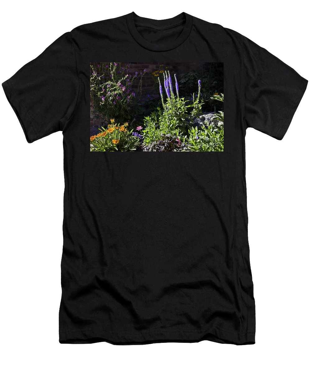 Flowers Men's T-Shirt (Athletic Fit) featuring the photograph Colorado Flowers by Madeline Ellis