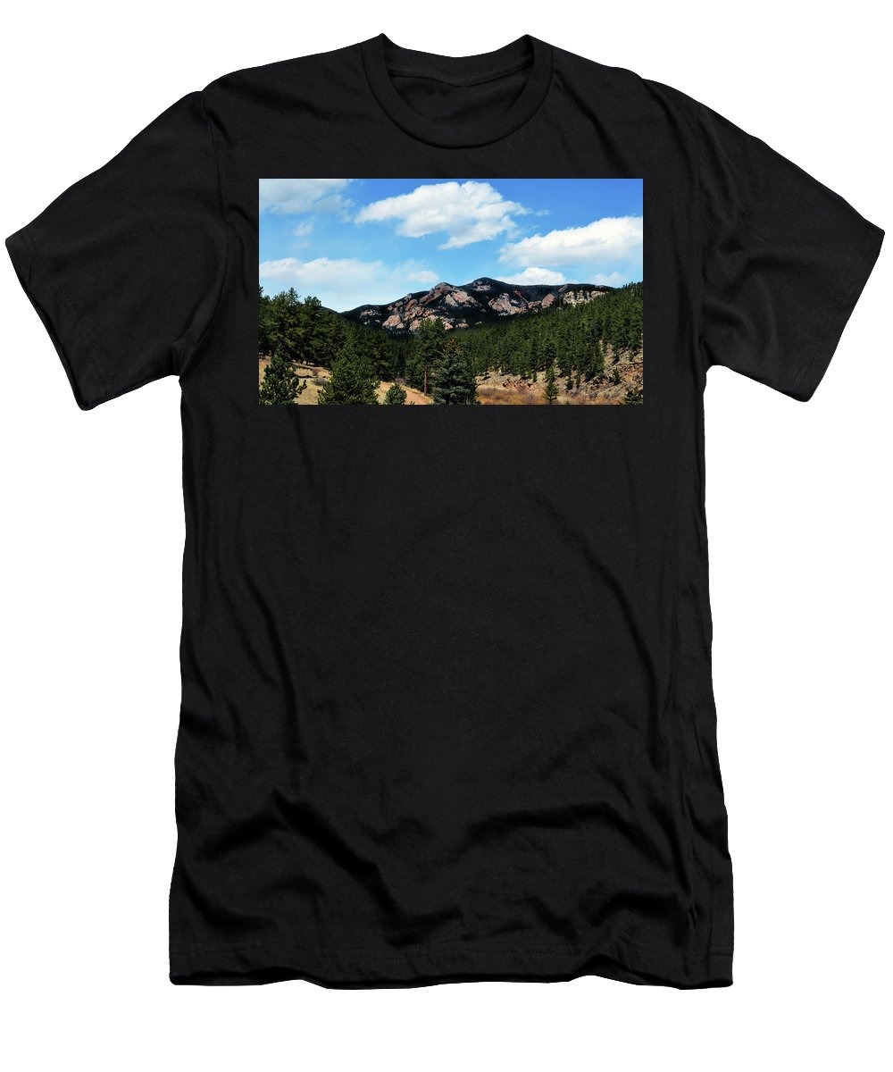 Colorado Men's T-Shirt (Athletic Fit) featuring the photograph Colorado Mountains by Angelina Tamez