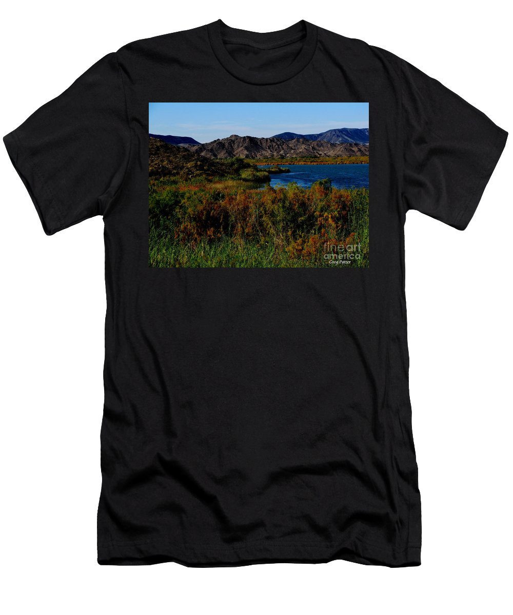 Patzer Men's T-Shirt (Athletic Fit) featuring the photograph Colorado River by Greg Patzer