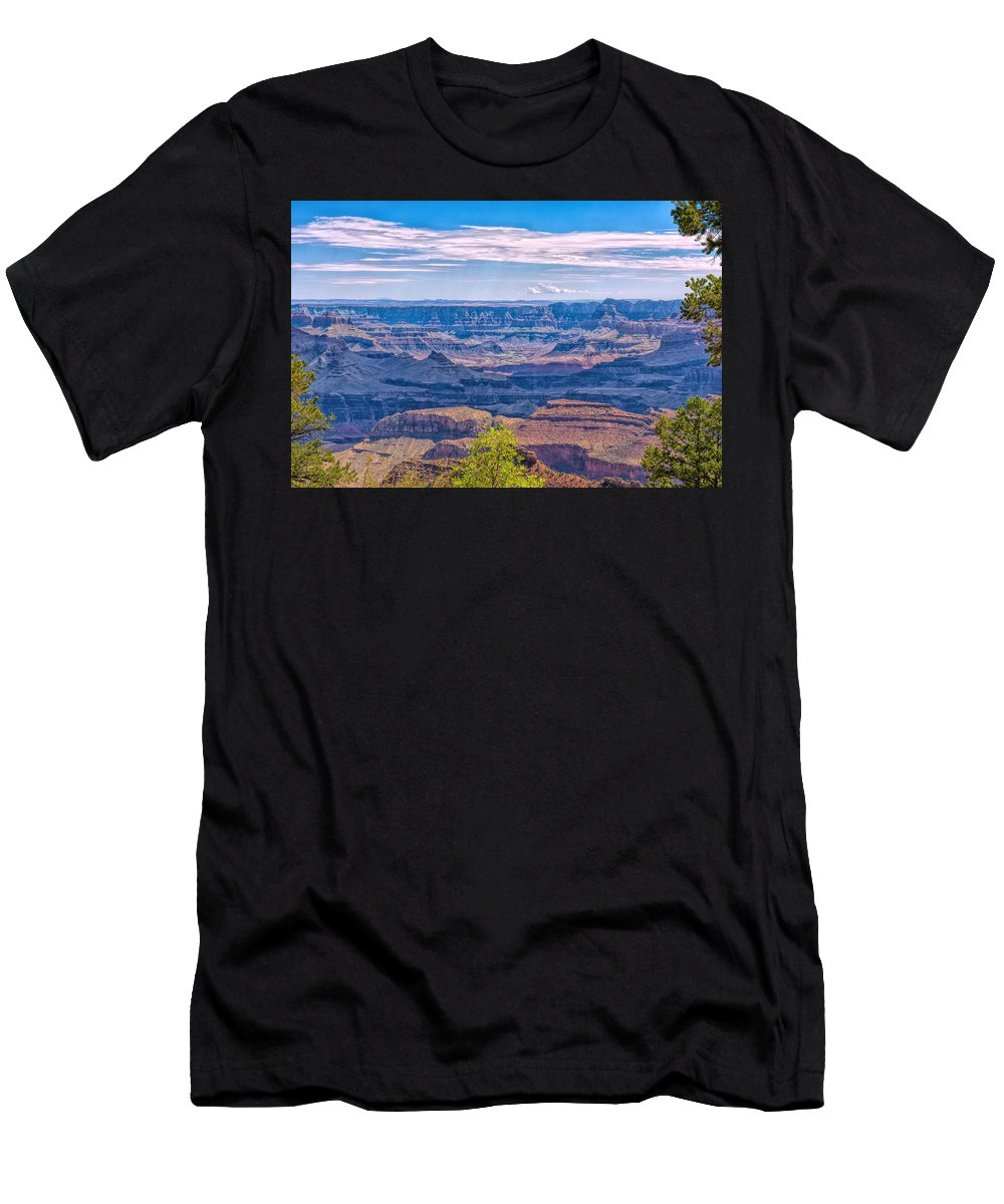 Landscape Men's T-Shirt (Athletic Fit) featuring the photograph Colorado River In The Grand Canyon by John M Bailey