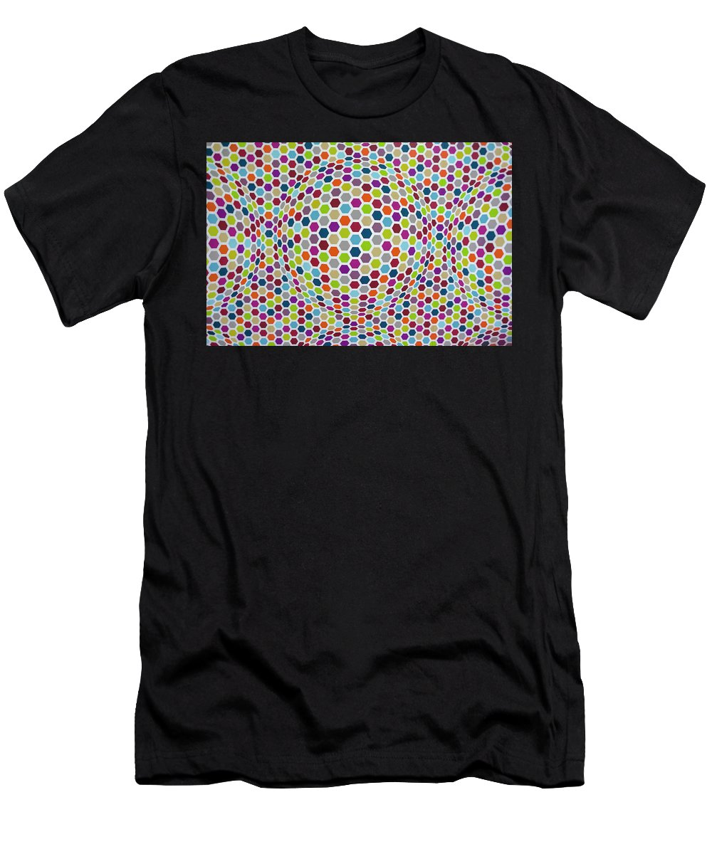 Geometries Men's T-Shirt (Athletic Fit) featuring the photograph Colored Geometries by Valerio Poccobelli