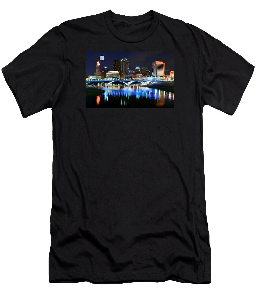 Columbus Men's T-Shirt (Athletic Fit) featuring the photograph Colorful Columbus by Frozen in Time Fine Art Photography