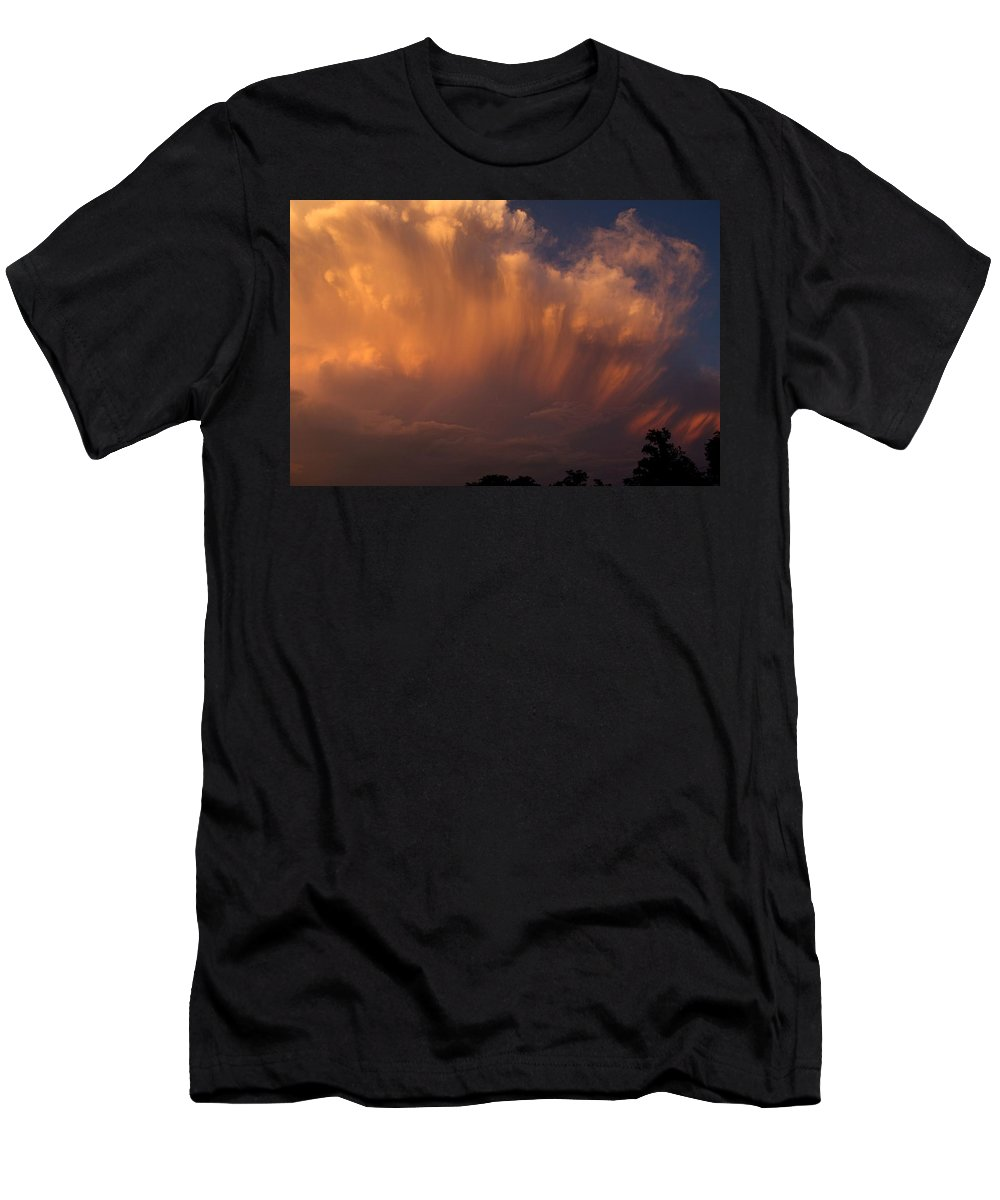 Clouds Men's T-Shirt (Athletic Fit) featuring the photograph Painting With Clouds, Part 3 by Shoeless Wonder