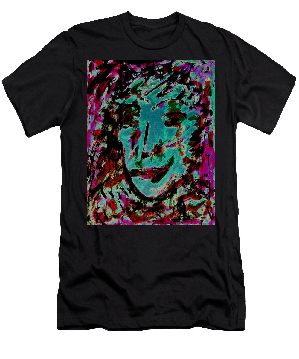 Expressionism Men's T-Shirt (Athletic Fit) featuring the painting Colorful Expression 15 by Natalie Holland