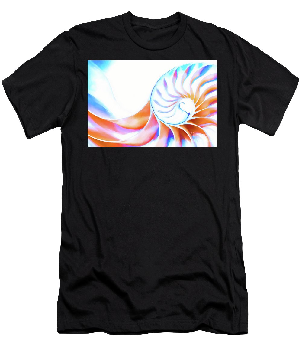 Nautilus Men's T-Shirt (Athletic Fit) featuring the photograph Colorful Nautilus by Joe Geraci