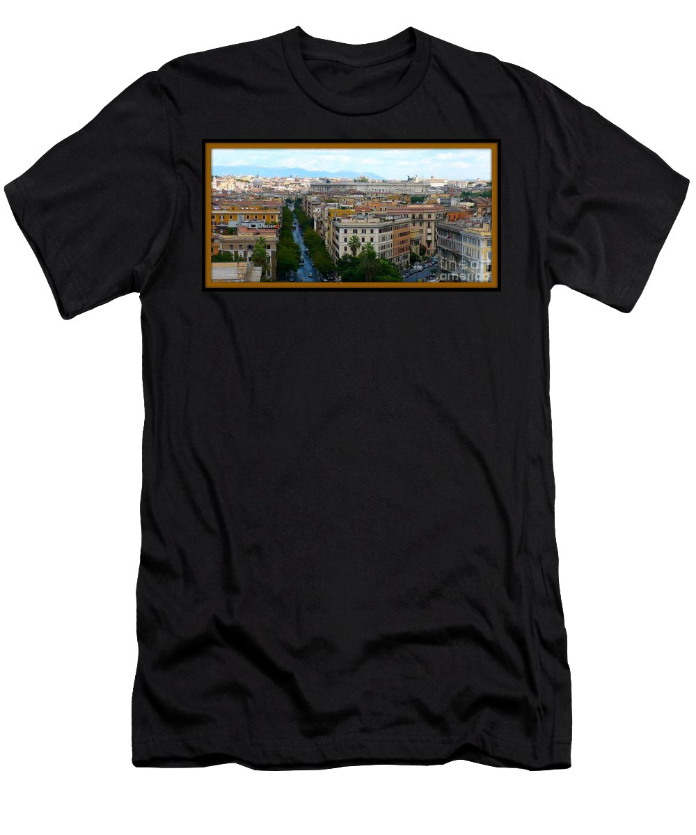 Rome Men's T-Shirt (Athletic Fit) featuring the photograph Colorful Rome Cityscape by Carol Groenen