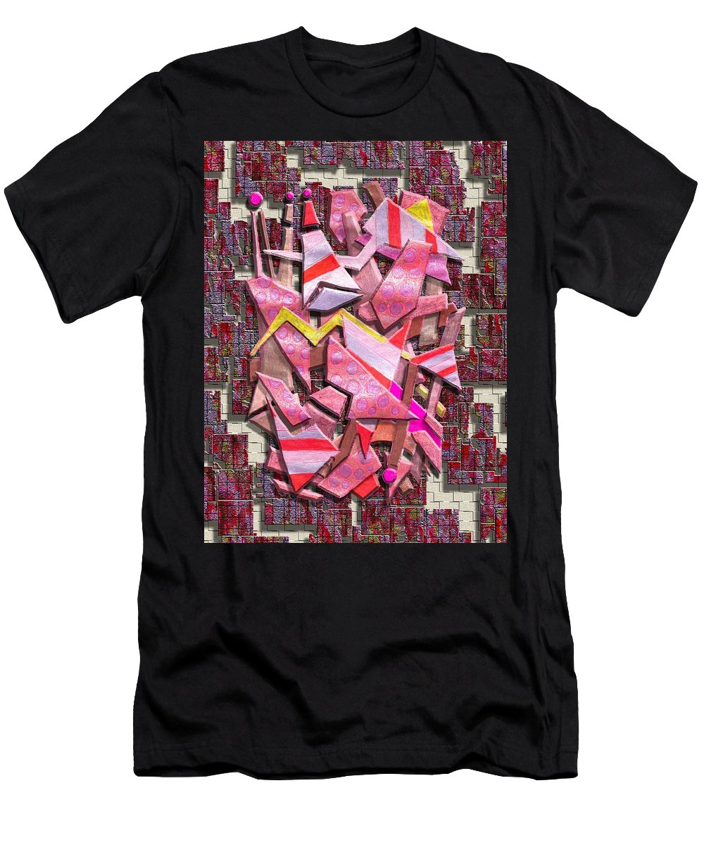Abstract Men's T-Shirt (Athletic Fit) featuring the digital art Colorful Scrap Metal by Mark Sellers
