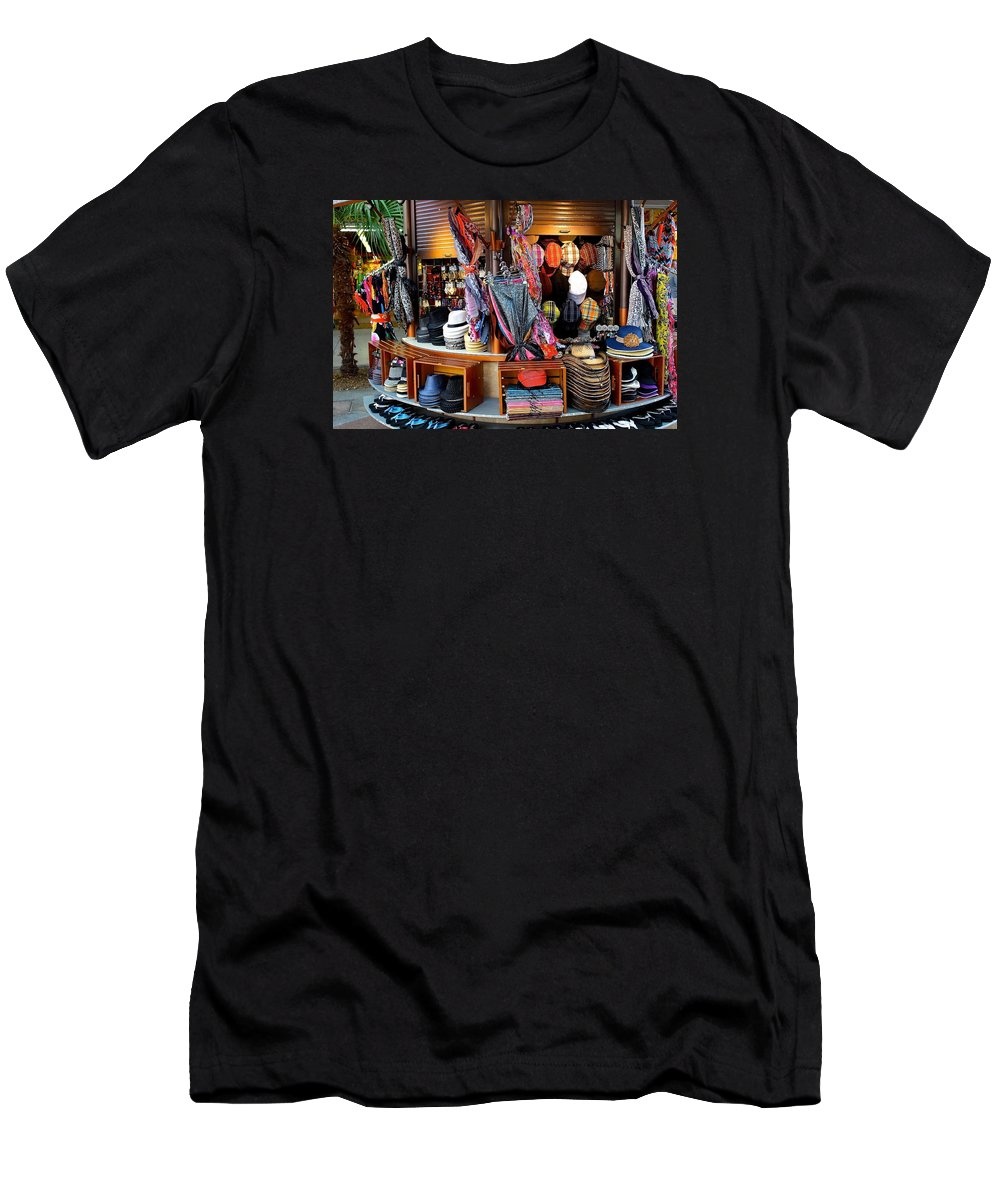 Shopping Men's T-Shirt (Athletic Fit) featuring the photograph Colorful Shopping by Barbara Zahno