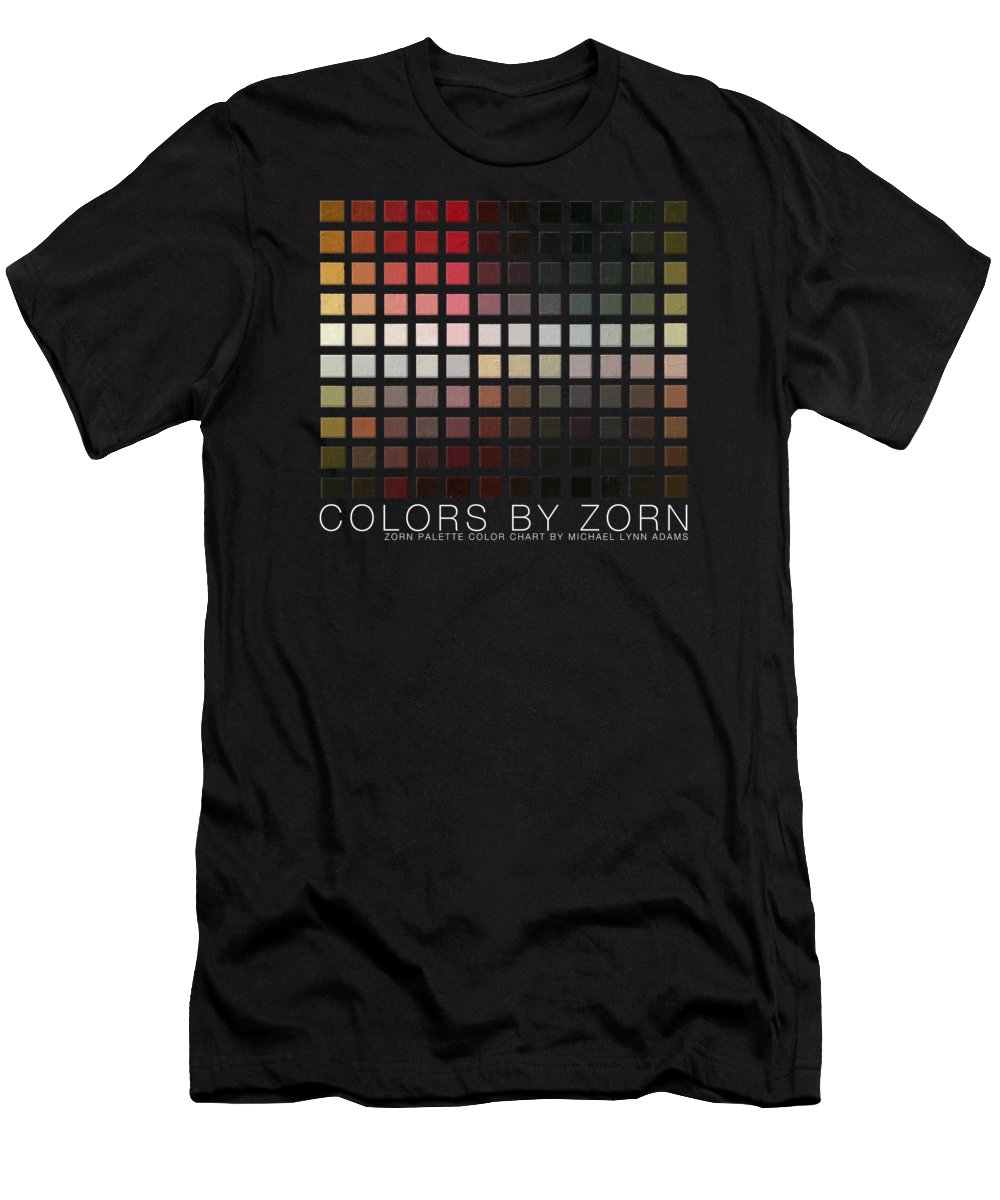 Men's T-Shirt (Athletic Fit) featuring the painting Colors By Zorn by Michael Lynn Adams