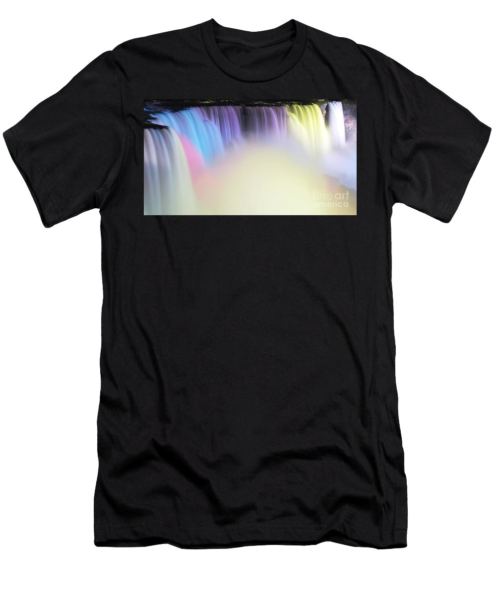 White- Men's T-Shirt (Athletic Fit) featuring the photograph Colors by Kathleen Struckle