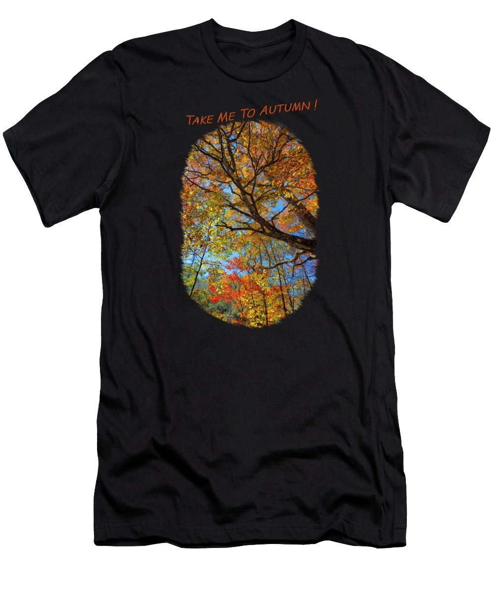 Landscape Men's T-Shirt (Athletic Fit) featuring the photograph Colors On High 2 by John M Bailey